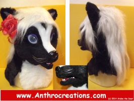 Twillight Skunk Head Fursuit Head by AtalontheDeer