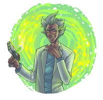 Rick Sanchez by BleedingHeartworks