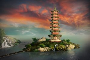 Chinese tower by j-filament