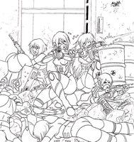 aFras last Stand lineart by Shabazik
