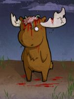 EPIC Zombie MOOSE by Lolli-Chan