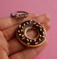 Preview Kawaii Donut Keychain by FatallyFeminine