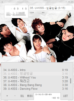U-kiss winamp skin by rum-and-ginger