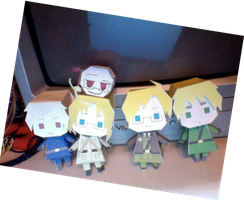 APH- More Hetalia Papercrafts by cartunegirl56