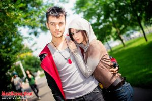 Dante and Kat - DmC - cosplay convent by LuckyStrike-cosplay