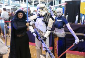 Barriss, a trooper and Ventress by CerseiDM