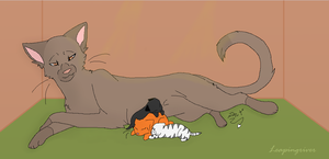 My OC's ~ Mousefang and kits by Leapingriver