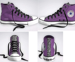 My converse design by Kandyfloss30a