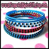 Frankie Stein Rave Bangle Set by SugarAndSpiceDIY