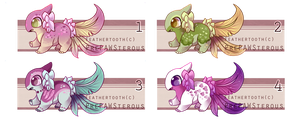 :Female Feathertooth Adoptables(open): by PrePAWSterous