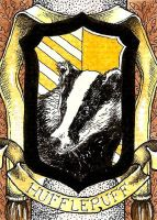 Hufflepuff House Crest ATC by TempestErika