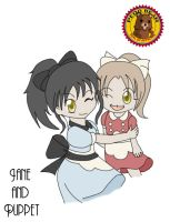 Little Sister Jane and Puppet by Alice13th