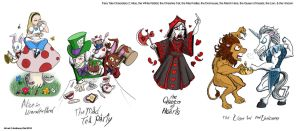 Fairy Tale Characters 2: Wonderland by Gummibearboy