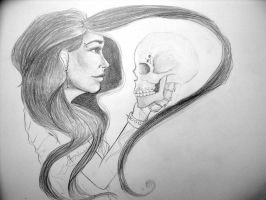 Girl with a scull by gabchik