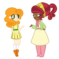 Human Carrot Top and Cherry Jubilee by robynneski