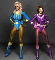 Electra Woman and Dyna Girl 2 Blue NRE S.2 by Aszmo