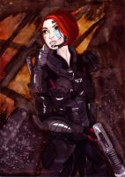 My Shepard from Mass Effect 2 by Saph-y