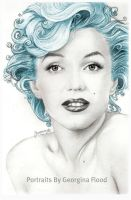 Aqua Marilyn by georginaflood