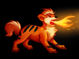 Tough Little Growlithe by CaraLuca