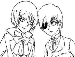 Alois and Ciel_WIP by kogaswolftribebabe