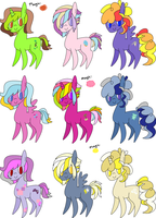 Super Cheap Chibi Ponies - CLOSED by DemTrollAdopts