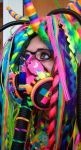 Rainbow cybergoth raver outfit - 2 by German-Blood