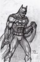 Batman Rough Sketch 12-7-2012 by myconius