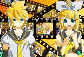 Kagamine Len and Rin by Jiayi