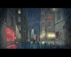 Animation backkground - Rain by MichaelVogt
