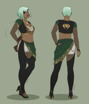 Emerald Sustrai Alternate Outfit by mirzers