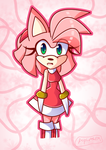 Amy rose officially new by PopbottleEM