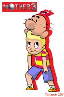 Lucas and Mr.Saturn by captainsponge