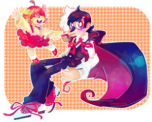 [AT] Black Jack and Pinoko by Cheapcookie