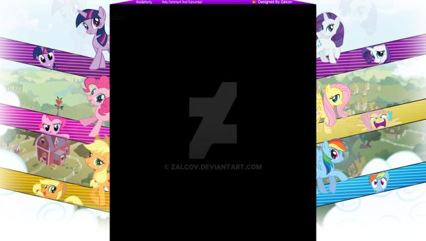 My Little Pony Youtube Background by Zalcov