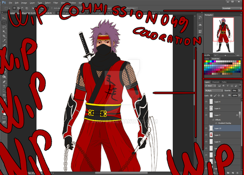 Wip commission 049 Coloration by Angy89