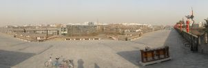 Atop the Xian City Wall by JimBobBillyJoeJang