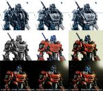 step by step coloring OPTIMUS PRIME by masdabboy