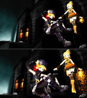 PD Helloween Kagamine - Which one do you prefer? by DiemDo-Shiruhane
