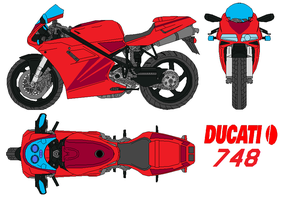 ducati-748 by bagera3005