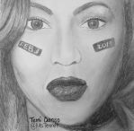 Beyonce SuperBowl Drawing Feb 3 2013 by MsTemmii