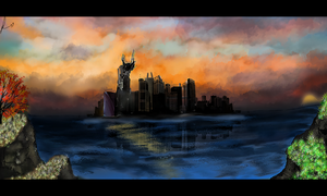 city over the ocean by duelord