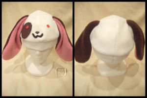 Happy Bunny Hat -brown+white- by VesteNotus