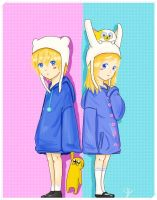 Little fionna and finn by soofikbm