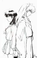 Stuck-- Inuyasha and Kagome by nillia