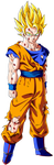 Goku SSJ2 Damaged by EmiyanSaiyan