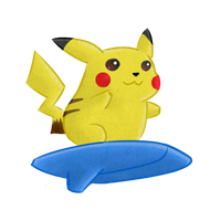 Surfing Pikachu by Raiba-art