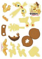 Braeburn papercraft pattern by Kna