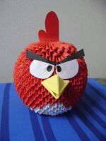 Angry Bird 3d Origami by meshell1129