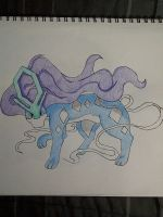 ~Color Pencil~ Suicune by Blancoart89