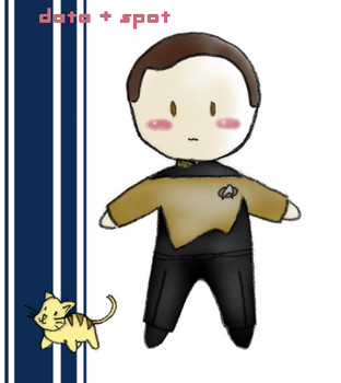 Data and Spot Plushie by BBMacToma